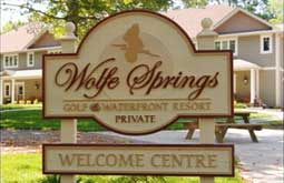 Wolfe Springs Resort sign