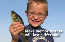 Holding a fish - make memories that will last a lifetime!